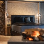 Suite Deluxe - dettaglio fuoco e letto